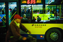 China,Beijing.A bus in the city center. ©Carmen Secanella