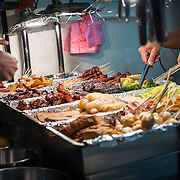 Shida Night Market is a trendy night market close to a uni with all the usual street food that Taiwan is known for, Taipei, Taiwan