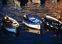 1997, Riomaggiore, Italy --- Row Boats --- Image by © Owen Franken/