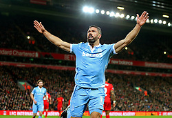 Jonathan Walters of Stoke City celebrates after scoring his sides first goal  - Mandatory by-line: Matt McNulty/JMP - 27/12/2016 - FOOTBALL - Anfield - Liverpool, England - Liverpool v Stoke City - Premier League