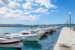 THEMENBILD - die Boote im Hafen von Crikvenica, aufgenommen am 19. April 2017, Crikvenica, Kroatien // the boats in the port of Crikvenica, on 2017/04/19, Crikvenica, Croatia. EXPA Pictures © 2017, PhotoCredit: EXPA/ Stefanie Oberhauser