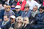 Paris, France. Roland Garros. June 2nd 2013.<br /> American actor Leonardo DiCaprio and his friends watch the game opposing Federer and Simon at Roland Garros.
