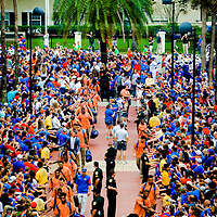 TAMPA, FL - November 18, 2015 -- Tampa Bay Buccaneers fans celebrate the Siege the Stadium RED event at Raymond James Stadium in Tampa Wednesday evening. (PHOTO / CHIP LITHERLAND)<br /> NCAA College Football: Florida Atlantic at Florida<br /> Game Action - FAU Owls at UF Gators<br /> Ben Hill Griffin Stadium/Gainesville, FL, USA<br /> 11/21/2015<br /> X160164 TK1<br /> Credit: Chip Litherland