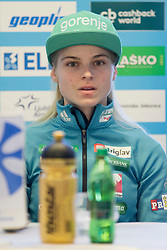 Spela Rogelj during press conference before FIS Ski World Cup Ladies competition in Ljubno 2018 on January 24, 2018 in BTC, Ljubljana, Slovenia. Photo by Urban Urbanc / Sportida