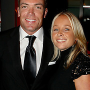 NLD/Amsterdam/20091121 - JFK Great men of the Year Gala 2009, Robert Doornbos en partner Machteld