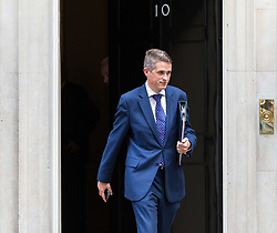 London, September 5th 2017. Chief Whip (Parliamentary Secretary to the Treasury) Gavin Williamson leaves the first UK cabinet meeting at Downing Street after the summer recess. ©Paul Davey