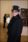 STEWART MECHEM at the Private view for A Strong Sweet Smell of Incense<br /> A Portrait of Robert Fraser, Curated by Brian Clarke. Pace Gallery. 6 Burlington Gardens. London. 5 February 2015.