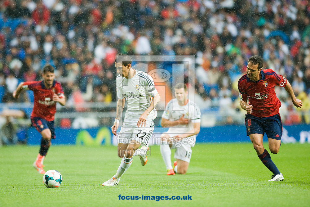 Angel Di Maria of Real Madrid during the La Liga match at the Estadio Santiago Bernabeu, Madrid<br /> Picture by Marcos Calvo Mesa/Focus Images Ltd +34 654142934<br /> 26/04/2014