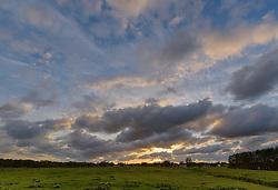 Zonsondergang, sunset, Kortenhoef, Wijdemeren, Netherlands