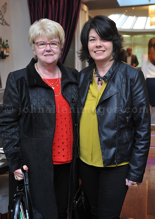 REPRO FREE<br /> Carmel Mulcahy, Waterfall and Ann Crowley, Ballinadee pictured at the Irish Fashion Design Showcase organised by frock advisor and Wear We Wander at the Blue Haven Hotel in Kinsale.<br /> Picture. John Allen<br /> <br /> For immediate release - Contact &amp; Enquiries for further details Bronwyn Connolly 0894389844<br /> <br /> Frockadvisor, Ireland's only Fashion app supporting independent boutiques and designers teamed up with online Ethical Fashion Boutique, Wear we Wander, to showcase and celebrate the very best in Irish Fashion Design in the stunning setting of Aperitif at The Blue Haven, Kinsale. Guests previewed SS16 Collections from well known Irish Designers including Alice Halliday, Charlotte &amp; Jane, Wear we Wander, Celtic Fusion, Mamukko,&amp;  Helle Helsner. While indulging Handmade Irish Chocolate, Wine and Tapas, all while listening to the haunting sounds of the Harp. Guests were truly immersed in the very fantastic display of Irish Design &amp; Fashion. <br /> <br /> frockadvisor is the brain child of Fashion Gurus Brendan Courtney and Sonya Lennon, who between them have many industry years under their beautifully crafted belts. Their careers have included TV broadcasting, styling, journalism and designing.<br /> Using all that knowledge, they developed frockadvisor, through a deep understanding of the industry and a clear sense of what the customer wants. Independent retailers, designers and their customers love each other and are driven by a common search for something different. Fashion is magic and the experience of being advised and assisted by people who you respect and trust is much more beautiful than simply pressing &lsquo;buy it now&rsquo;. frockadvisor is pioneering a new kind of customer experience and providing boutique and designers an opportunity to connect with fashion lovers on a whole new level. <br /> <br /> frockadvisor is delighted be involved with anything that promotes beautiful things produced and sold by beautiful people. Bronwyn is an inspiration, bringing together the bright stars of Irish De