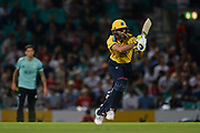 Grant Elliott of Birmingham Bears batting during the NatWest T20 Blast South Group match between Surrey County Cricket Club and Warwickshire County Cricket Club at the Kia Oval, Kennington, United Kingdom on 25 August 2017. Photo by Dave Vokes.