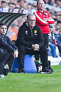 Marcelo Bielsa of Leeds United (Manager) watches on during the EFL Sky Bet Championship match between Leeds United and Bolton Wanderers at Elland Road, Leeds, England on 23 February 2019.
