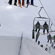 in action during the Billabong Slope-Style 2011 at Snowpark, Wanaka, New Zealand. 5th August 2011