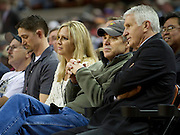 Texas governor Rick Perry looks on during the UIL 3A state championship between Dallas Madison and Houston Yates at the Frank Erwin Center in Austin on Saturday, March 9, 2013. (Cooper Neill/The Dallas Morning News)
