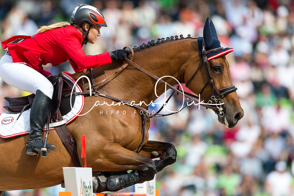 Stefanie Bistan, (AUT), Bogegaardens Apollonia - World Champions, - Second Round Team Competition - Alltech FEI World Equestrian Games&trade; 2014 - Normandy, France.<br /> &copy; Hippo Foto Team - Leanjo De Koster<br /> 25/06/14
