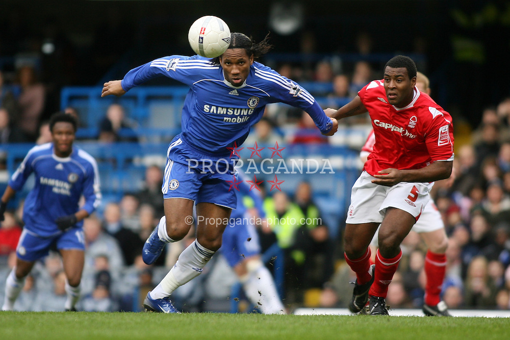 LONDON, ENGLAND - Sunday, January 28, 2007: Chelsea's Didier Drogba in action against Nottingham Forest during the FA Cup 4th Round match at Stamford Bridge. Chelsea won 3-0. (Pic by Chris Ratcliffe/Propaganda)