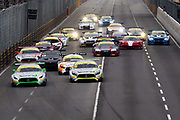 Start of the Macau GT qualifying race. <br /> <br /> 64th Macau Grand Prix. 15-19.11.2017.<br /> SJM Macau GT Cup - FIA GT World Cup<br /> Macau Copyright Free Image for editorial use only