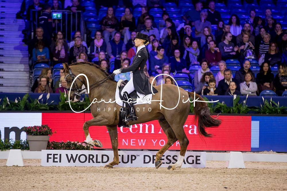 Brunkhorst Juliane, GER, Fuerstano<br /> FEI World Cup Dressage - Grand Prix<br /> Jumping Amsterdam 2017<br /> &copy; Hippo Foto - Leanjo de Koster<br /> 27/01/17