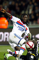 FOOTBALL - FRENCH CHAMPIONSHIP 2011/2012 - L1 - LILLE OSC v OLYMPIQUE LYONNAIS - 23/10/2011 - PHOTO CHRISTOPHE ELISE / DPPI - BAFETIMBI GOMIS (OLYMPIQUE LYONNAIS)
