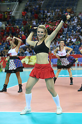 07.09.2014, Krakow Arena, Krakau, POL, FIVB WM, Frankreich vs Belgien, Gruppe D, im Bild TANCERKI WYSTEP // during the FIVB Volleyball Men's World Championships Pool D Match beween France and Belgium at the Krakow Arena in Krakau, Poland on 2014/09/07.<br /> <br /> ***NETHERLANDS ONLY***