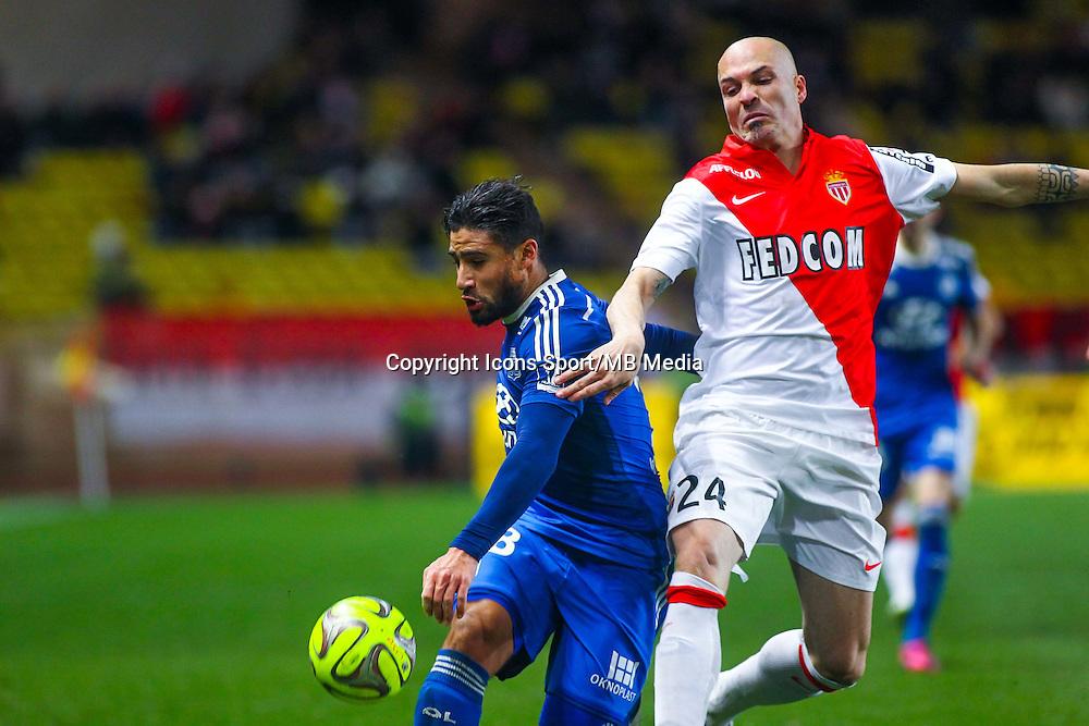 Nabil FEKIR / Andrea RAGGI - 01.02.2015 - Monaco / Lyon - 23eme journee de Ligue 1 -<br /> Photo : Serge Haouzi / Icon Sport