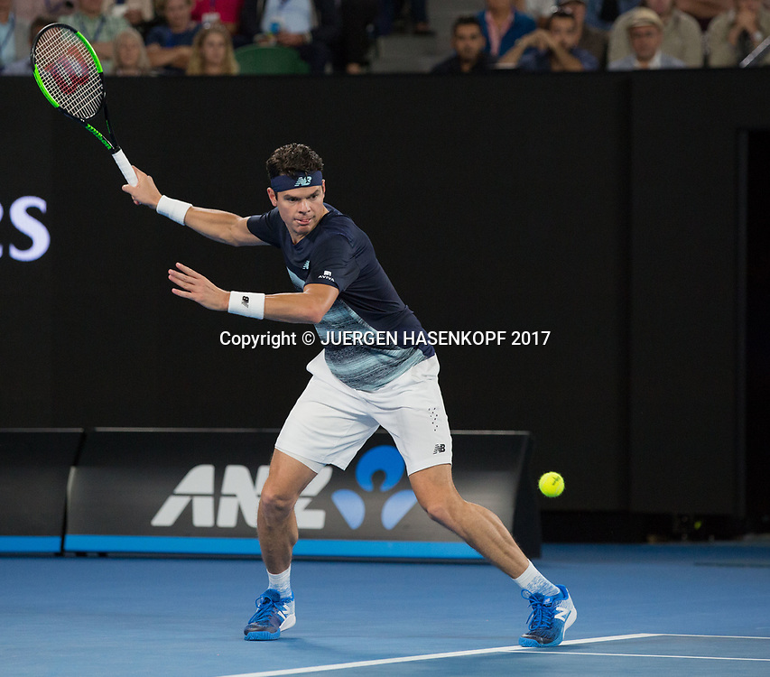 MILOS RAONIC (CAN)<br /> <br /> Australian Open 2017 -  Melbourne  Park - Melbourne - Victoria - Australia  - 25/01/2017.