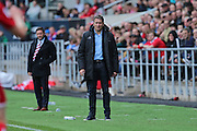 Nottingham Forest manager Philippe Montanier during the EFL Sky Bet Championship match between Bristol City and Nottingham Forest at Ashton Gate, Bristol, England on 1 October 2016. Photo by Gary Learmonth.