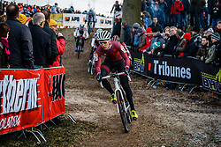 ORTENBLAD Tobin (USA) during the Men Elite race, UCI Cyclo-cross World Cup #8 at Hoogerheide, Noord-Brabant, The Netherlands, 22 January 2017. Photo by Pim Nijland / PelotonPhotos.com   All photos usage must carry mandatory copyright credit (Peloton Photos   Pim Nijland)