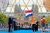Koning Willem Alexander bij openingsceremonie EK atletiek