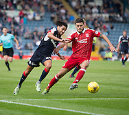 Dundee&rsquo;s Faissal El Bakhtaoui takes on Aberdeen&rsquo;s Anthony O'Connor - Dundee v Aberdeen in the Ladbrokes Scottish Premiership at Dens Park, Dundee. Photo: David Young<br /> <br />  - &copy; David Young - www.davidyoungphoto.co.uk - email: davidyoungphoto@gmail.com