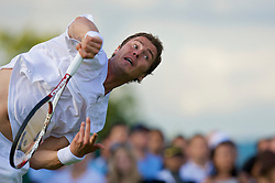 LONDON, ENGLAND - Monday, June 23, 2008: Marat Safin (RUS) in action during his first round match on day one of the Wimbledon Lawn Tennis Championships at the All England Lawn Tennis and Croquet Club. (Photo by David Rawcliffe/Propaganda)