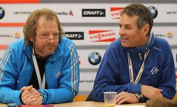 28.12.2011, DKB-Ski-ARENA, Oberhof, GER, Viessmann FIS Tour de Ski 2011, Pressekonferenz,im Bild Wettkampfleiter Arnd Krause und FIS-Renndirektor Jürg Capol . // during of Viessmann FIS Tour de Ski 2011, in Oberhof, GERMANY, 2011/12/28.. EXPA Pictures © 2011, PhotoCredit: EXPA/ nph/ Hessland..***** ATTENTION - OUT OF GER, CRO *****