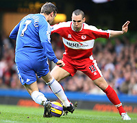 Shevchenko of Chelsea gets away from Pogatets of Middlesbrough