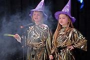 "10/26/09  -  Atlanta, Ga :  Students at Sagamore Hills Elementary School including ""Magic"" performers Holly Bollinger, Olivia Fletcher, Anushka Sharma and Lauren Tulis showcase their skits during the 2009 talent show featuring dance, music, comedy and other performances for the annual Showcase of Stars on Monday, October 26, 2009. Director Nancy Briggs, and assistant directors Joe Scivicque and Teresa Libbey helped produce more than 30 acts.     David Tulis         dtulis@gmail.com    ©David Tulis 2009"