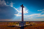 Kansas / Dodge City / Coronado Cross / Spanish Conquistador Francisco Vasquez de Coronado Marked This<br /> Spot After Celebrating A Mass Of Thanksgiving / The First Christian Service Held In The Interior Of The US<br /> Continent