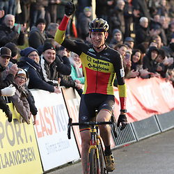 08-12-2019: Wielrennen: Superprestige: Zonhoven: Toon Aerts wint in Zonhoven voor Laurens Sweeck en Eli Iserbyt