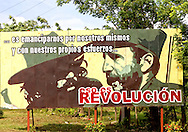 Revolutionary signs in Cienfuegos, Cuba.