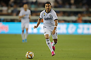 Philadelphia Union midfielder Marco Fabian (10) dribbles the ball during an MLS soccer match against the San Jose Earthquakes,  Wednesday, Sept. 25, 2019, in San Jose, Calif. Philadelphia beat the  Earthquakes 2-1,. (Peter Klein/Image of Sport)