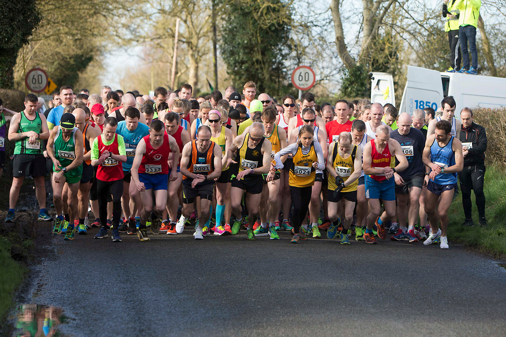 12/03/2017, Bohermeen AC 10k road Race &amp; Half Marathon<br /> The start of the 10k Roas Race<br /> Photo: David Mullen / www.quirke.ie &copy;John Quirke Photography, Unit 17, Blackcastle Shopping Cte. Navan. Co. Meath. 046-9079044 / 087-2579454.<br /> ISO: 640; Shutter: 1/1250; Aperture: 4; <br /> File Size: 3.6MB<br /> Actuations: