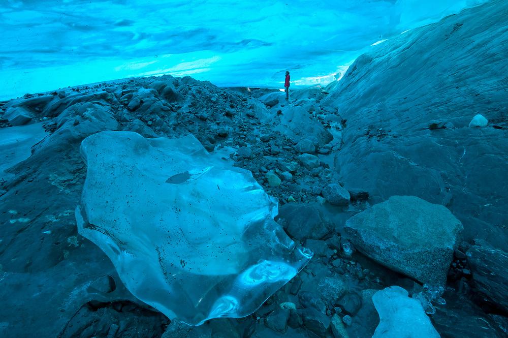 USA, Alaska, Inside Passage, Juneau, Mendenhall Glacier, Ice Cave