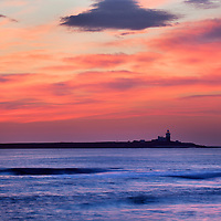 Dawn Sky over Coquet Island Amble by the Sea Northumberland England