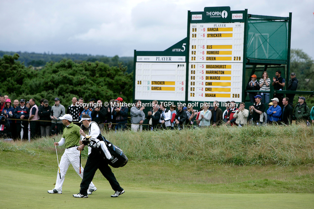 Sergio GARCIA (SPN) during the fourth round of the British Open Championship, 22nd July 2007. At 6th