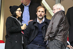 05.11.2011,  BayArena, Leverkusen, GER, 1.FBL, Bayer 04 Leverkusen vs Hamburger SV, im Bild.Mainzer Trainer Thomas Tuchel (M) auf der Tribuene ..// during the 1.FBL, Bayer Leverkusen vs Hamburger SV on 2011/11/05, BayArena, Leverkusen, Germany. EXPA Pictures © 2011, PhotoCredit: EXPA/ nph/  Mueller       ****** out of GER / CRO  / BEL ******