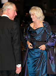 The Prince of Wales and Duchess of Cornwall arriving at the  Royal Variety Performance at the London Palladium Theatre in London, Monday, 25th November 2013. Picture by Stephen Lock / i-Images