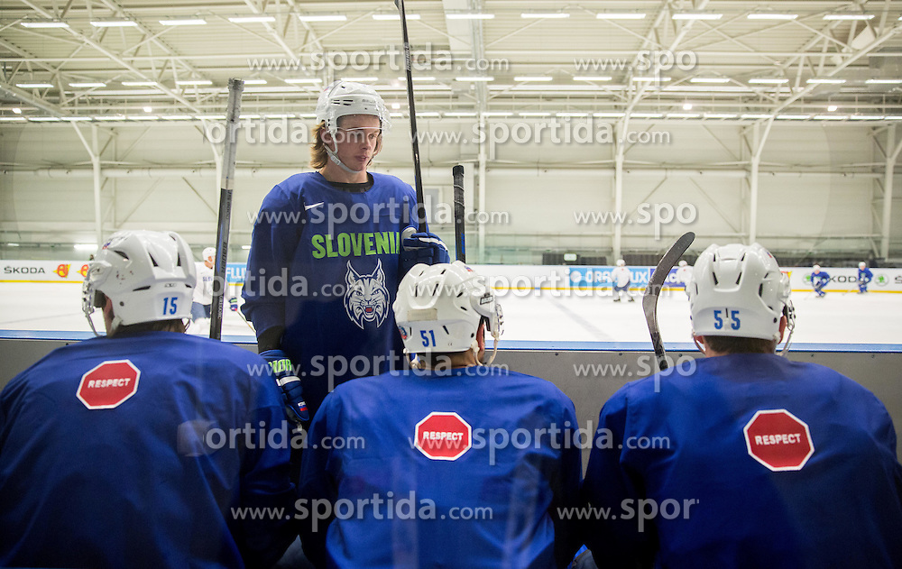 Ziga Jeglic during practice session of Slovenian National Ice Hockey Team 1 day prior to the 2015 IIHF World Championship in Czech Republic, on April 30, 2015 in Practice arena Ostrava, Czech Republic. Photo by Vid Ponikvar / Sportida