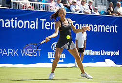 LIVERPOOL, ENGLAND - Friday, June 21, 2013: Alexandra Cadantu during Day Two of the Liverpool Hope University International Tennis Tournament at Calderstones Park. (Pic by David Rawcliffe/Propaganda)