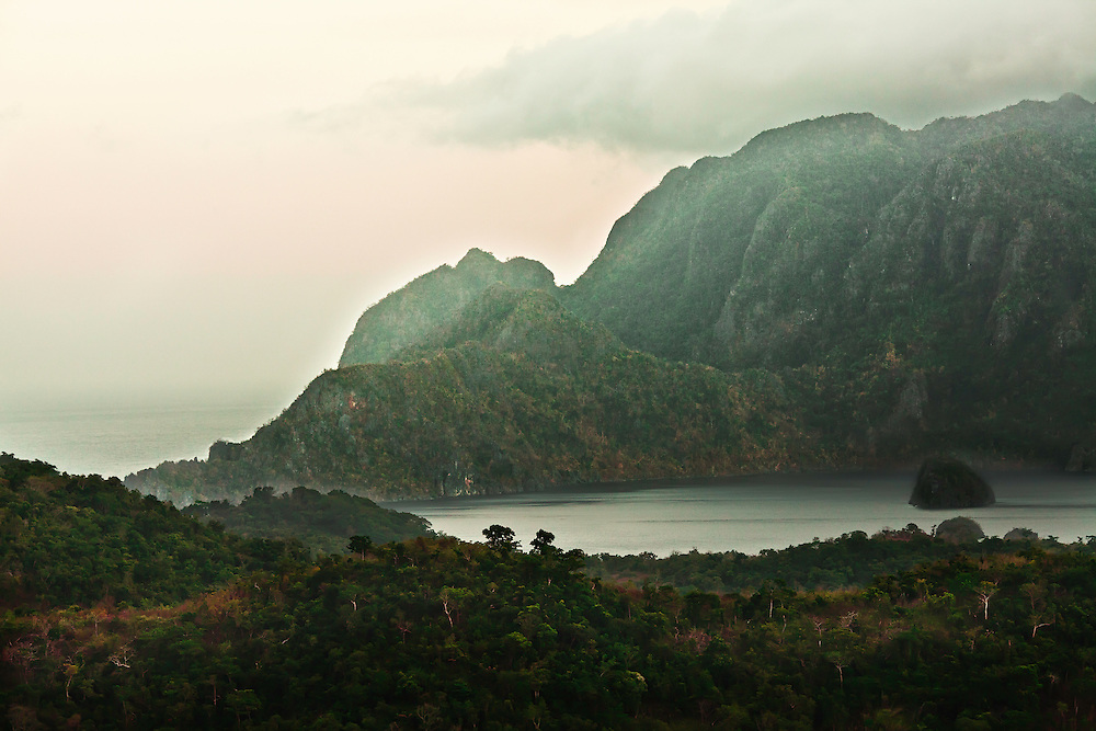 Distinctive hillside as seen from Mount Tapyas, in Coron, Philippines.  Copyright 2015 Reid McNally.