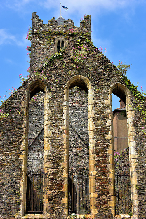 Greyfriars Abbey's Chancel in Waterford, Ireland <br /> Not much of the original Greyfriars Abbey remains today; it is mostly in ruins.  Yet it is still exciting to view the remnants of the chancel and nave along Bailey's New Street within the Viking Triangle. Then a few steps away is the Greyfriars Gallery.  This museum, housed in a 19th century church, contains over three hundred paintings from Irish artists.  The exhibit is part of the Waterford Municipal Art Collection.