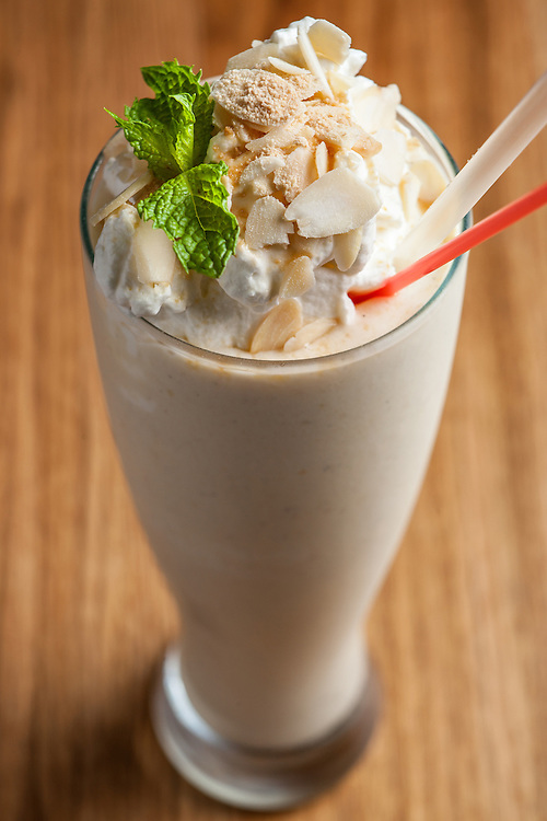 Banana and Marcona Almond Smoothie.