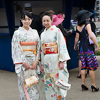 ASCOT, ENGLAND - JUNE 20:  Traditional Japanese kimono  at the  fifth and final day of Royal Week at Ascot Racecourse on June 20, 2009 in Ascot, England  (Photo by Marco Secchi/Getty Images)